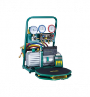 REFCO R134A, CHARGING STATION with GAUGES, SCALES, VACUUM PUMP