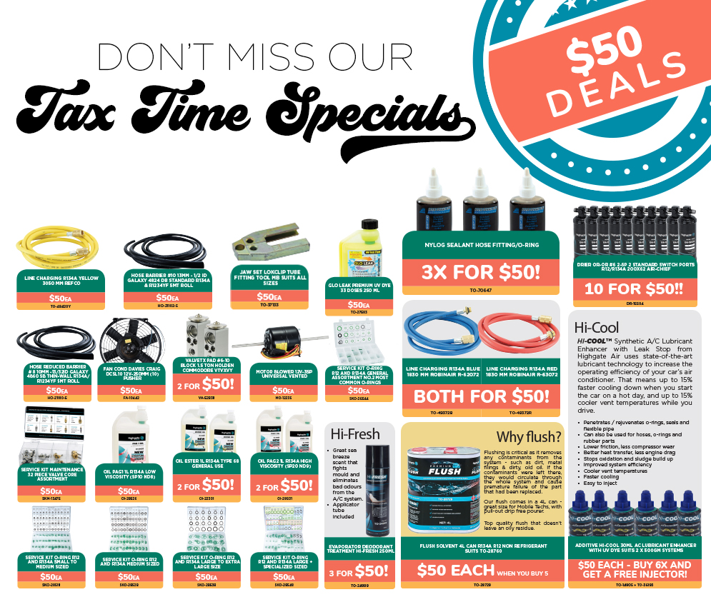 Tax Time Special - $50 Deals!
