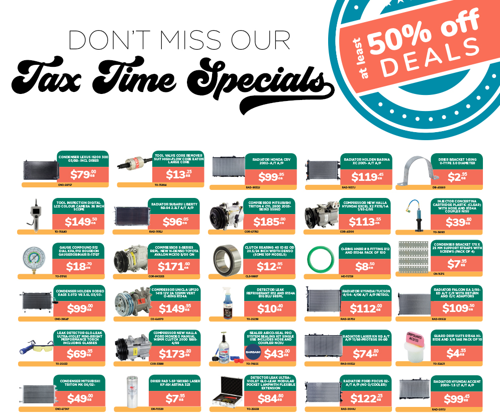Tax Time Special - At least 50% off!