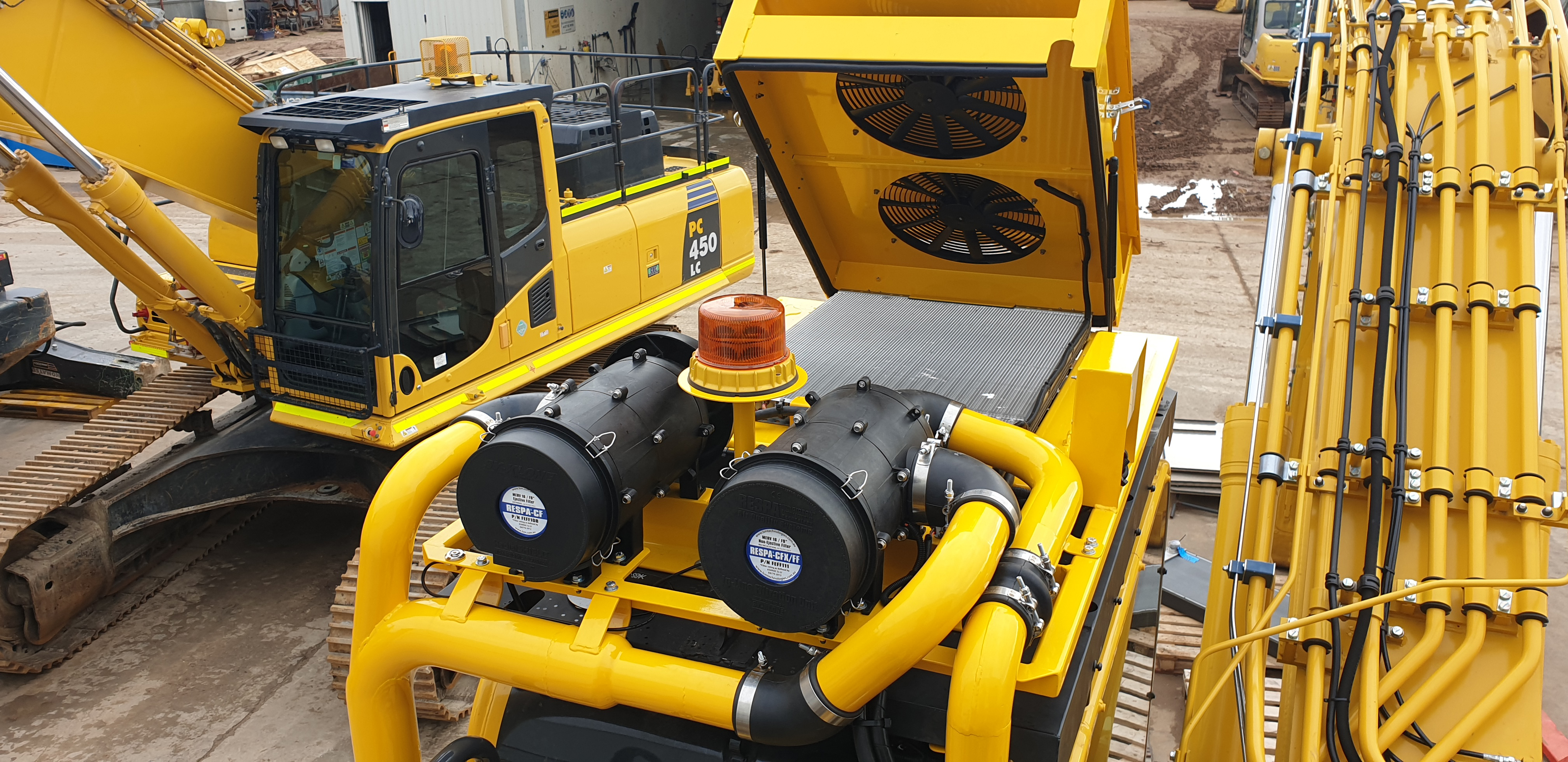 Custom A/C solution for excavator
